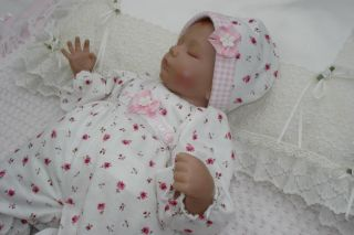 "Dolls Sleepsuit and Hat 15 17"" Fits Reborn Ashton Drake Baby Annabell New"