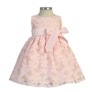 Sweet Kids Baby Girls 12M Pink Jasmine Lace Special Occasion Dress