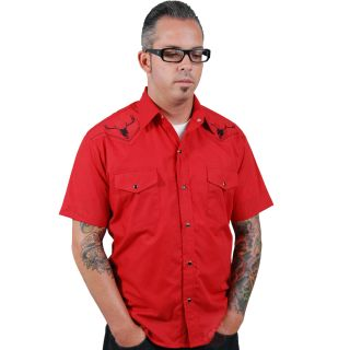 Steady Clothing Bull's Eye Western Shirt Rockabilly Tattoo Retro Kustom Punk
