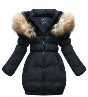 New Girls Pretty Clothing Warm Down Jacket Winter Coat Princess Children Baby