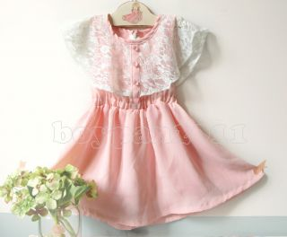 New Lovely Kids Toddlers Girls Sleeveless Chiffon Tutu Dress sz2 7Y