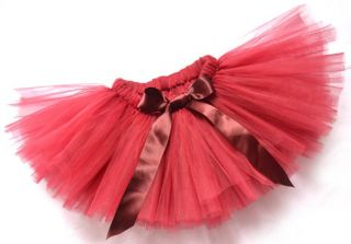 White Pink Black Red Handmade Baby Infant Toddler Baby Girls Skirts Tutu