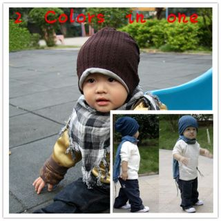 Korean Style Cute Boy Girl Trendy Baby Toddler Child Hat Knit Beanie Hat Cap MZ1