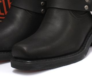Harley Davidson El Paso Black Womens Cowboy Biker Ankle Boots All Sizes