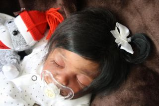 Reborn Baby Girl Vampire Twighlight Halloween Magnetic Pigtail