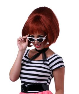 Womens Auburn Bouffant Halloween Costume Wig