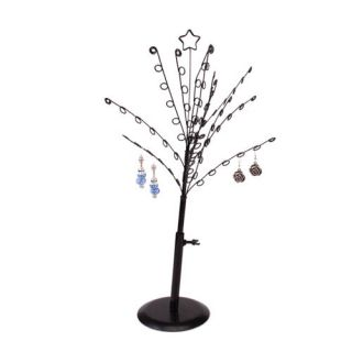 Black Earring Storage Jewelry Tree Display Stand Holder Rack