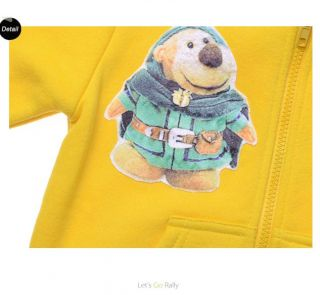"New Baby Kids Girls Boys Fleece Long Sleeve Outerwear Sweater ""Bear ""W02 2 7T"