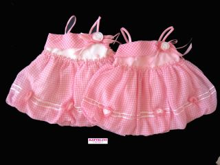 New Baby Girls Clothes Chiffon Dress Bubbly Pink White