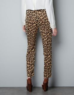 New Womens European Fashion Casual Wild Leopard Print Loose Casual Pants B2400