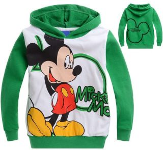 New Boys Girls Kids Toddlers Mickey Mouse Long Sleeve Hoodies Size 5 6 Years