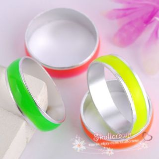 Free SHIP 20pcs Fashion Luminous Stainless Steel Ring LR8226 17mm