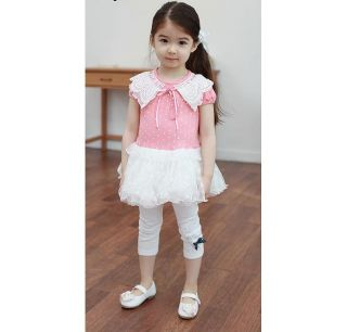 Cute Kids Girl Dress Tulle Skirt Girls' Clothing for 3 4 Years 110 C23