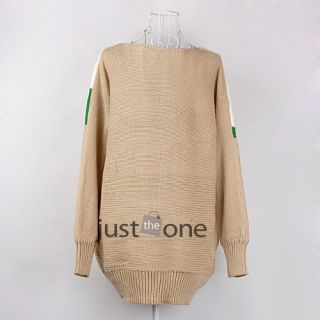 Trendy Chic Women Lady Girls V Neck Long Sleeve Loose Knit Sweater Pullover Tops