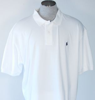 Ralph Lauren Mens Golf Tennis White Polo Shirt