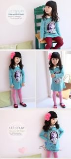Hot Kids Girls Clothing Sweet Princess Dress with Lovely Doll Collars AGES2 8Y