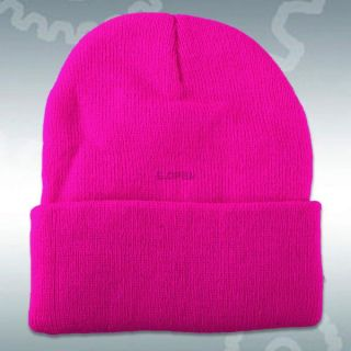 Super Soft Knitted Beanie Winter Mens Ladies Unisex Wooly Ski Cuff Turn Up Hat