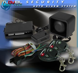 Car Truck Security Alarm System 2 Remote All Honda