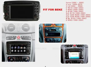Hot Mercedes Benz C Class W203 A Class W168 E Class Car DVD Player GPS Navi