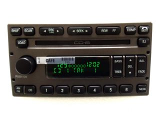 New 01 02 03 04 Ford Explorer Sport Trac Radio Stereo 6 Disc Changer CD Player