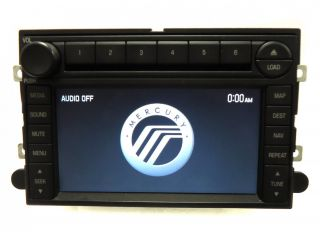 Ford Explorer Mercury Mountaineer GPS Navigation Radio 6 Disc Changer CD Player