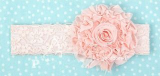 New Baby Toddler Kid Children Girl Lace Flower Hair Band Elasticity Headband Hot