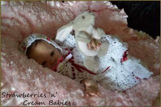Reborn Baby Girl 'Kaylee' Chanel Donna RuBert Strawberries'N'Creambabies