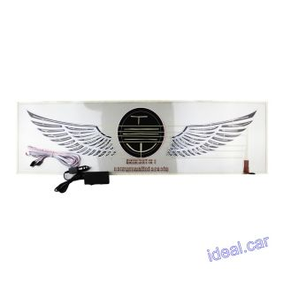 90x25cm Car Music Rhythm Ghost Wings Flash Light Lamp Sound Activated Equalizer