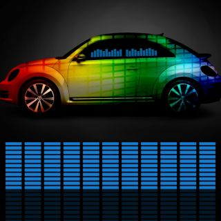 5 Size Car Sticker Music Rhythm LED Flash Light Lamp Sound Activated Equalizer