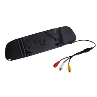 "Car 4 3"" TFT LCD Color Monitor Auto Reverse Rear View Mirror Backup Camera DVD"