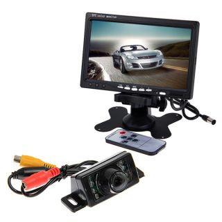 "Car 7"" TFT LCD Monitor Car Rear View Backup Camera Night Vision License Plate"