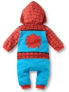 Spiderman Baby Toddler Boys Girls Hoodies One Piece Outfits Sets 0 24 Months