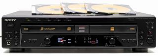 Nice Sony RCD W500C Audio CD Recorder 5 Disc Changer Player Dual Deck Combo