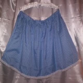 Custom Made Adult Sissy Womens Mens TV Sexy Blue Gingham Mini Skirt Dainty