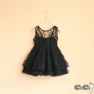 NTW Kids Girls See Sexy Through V Back Halter Lace Party Dress Summer 3 8T
