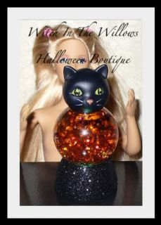 New Halloween Black Cat Lighted Crystal Ball for 11 1 2 to 17 inch Fashion Dolls