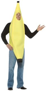 Banana Adult Teen Halloween Food Costume Fruit Tunic Face Hole Funny Attire
