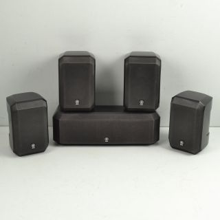 Yamaha NS AP2600 5 Channel Home Theater Satellite Speakers Center Channel Black