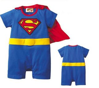 Infant Toddler Baby Boys Superman Romper 2pcs Set