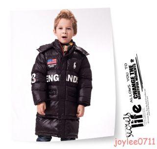 Boys Winter Warm Hooded Coat Cotton Padded Jacket Clothes Kids Outwear 3T 8T
