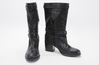Mens Black Leather Boots 9.5
