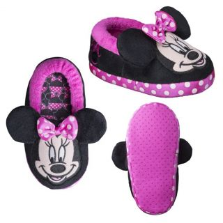 Disney Minnie Mouse Bootie Slippers Toddler Girl Large 9 10 Pink