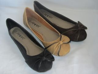 Woman Suede Flats Zipper Bow LILY33