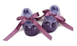 Toddler Baby Girls Velvet Ballet Slippers Infant Soft Sole Crib Shoes Size 1 2 3