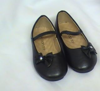 Girls Black Ballet Flats w Little Bow TG Toddler Sz 5