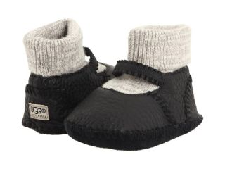 New in Box UGG Macie Black Mary Janes Infant XS 0 1 Baby Bootie Girls Op Co