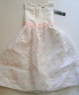 Girls George Sun Dress 8 Ivory White Wedding Flower Girl Princess Embroidery