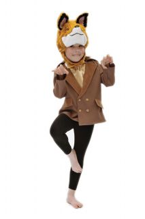 Children's Kids Boys Girls Fantastic Mr Fox Fancy Dress Up Costume Roald Dahl