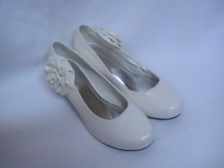 Girls White Dress Shoes Pumps Carrie 36 Youth Sz 4