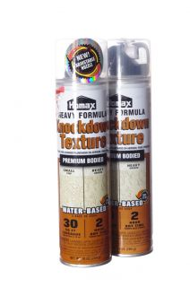 Homax Heavy Knockdown Texture Water Based Paint Aerosol Spray Can Lot of 2 New